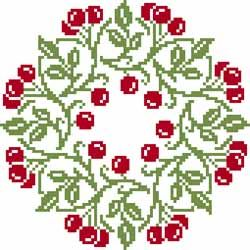 <3 cross stitch circle of berries