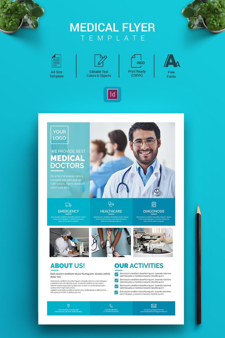 Alex - Indesign Medical Flyer Corporate Identity Template