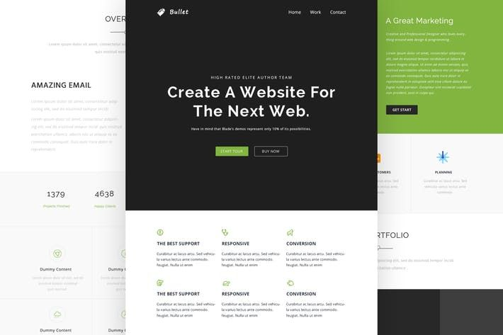 Bullet Responsive Email Online Template Builde By Castellab On