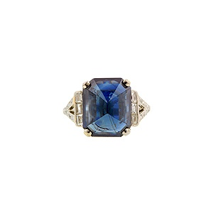 I absolutely adore this ring! The sapphire is so beautiful.