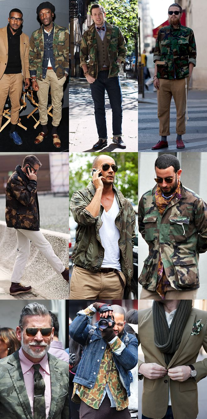 Camo is in this season, this great image shows that it can take over your image, or simply add to it...