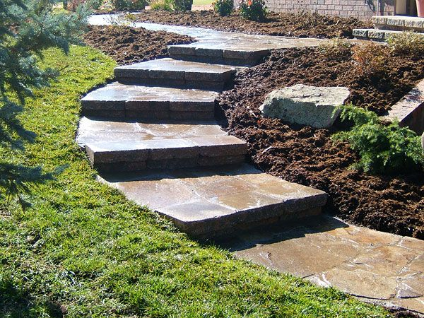 Inexpensive Hardscape Ideas Pin By Brent Douglas On For The Home | Stone Walkway