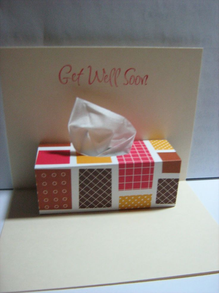 Get well card/kleenex pop up card