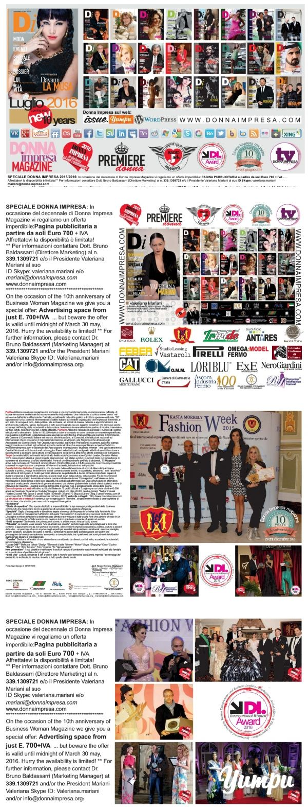 DONNA IMPRESA magazine 2016 - Magazine with 4 pages: