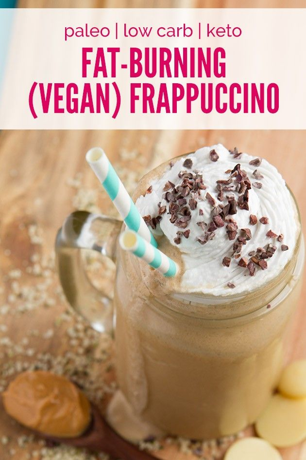 Vegan Fat-Burning Rocket Fuel Frappuccino (low-carb, paleo + keto)