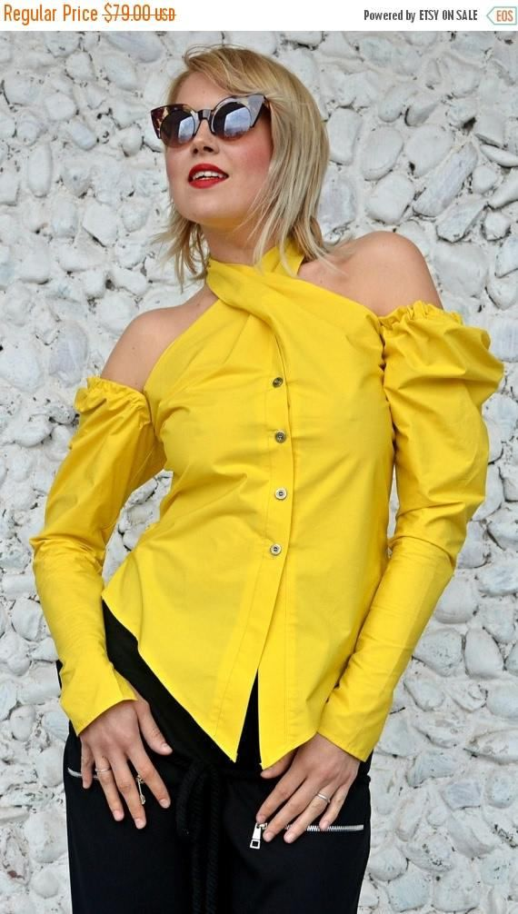ON SALE Extravagant Backless Lemon Yellow Top Funky Cotton https://www.etsy.com/listing/502403162/on-sale-extravagant-backless-lemon?utm_campaign=crowdfire&utm_content=crowdfire&utm_medium=social&utm_source=pinterest