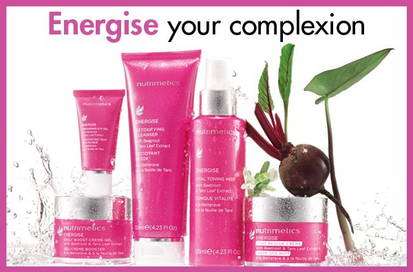 NEW Energise skin care range - check it out on my webstie...FREE SHIPPING on orders over $55 until 6am Tuesday. Order on my website www.nutrimetics.com.au/susyalger or email me susyalger@y7mail.com MWAH!xxx