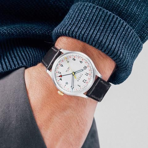 Farer Watch - Barnato - Silver GMT + Date - 39.5mm Case – Farer USD