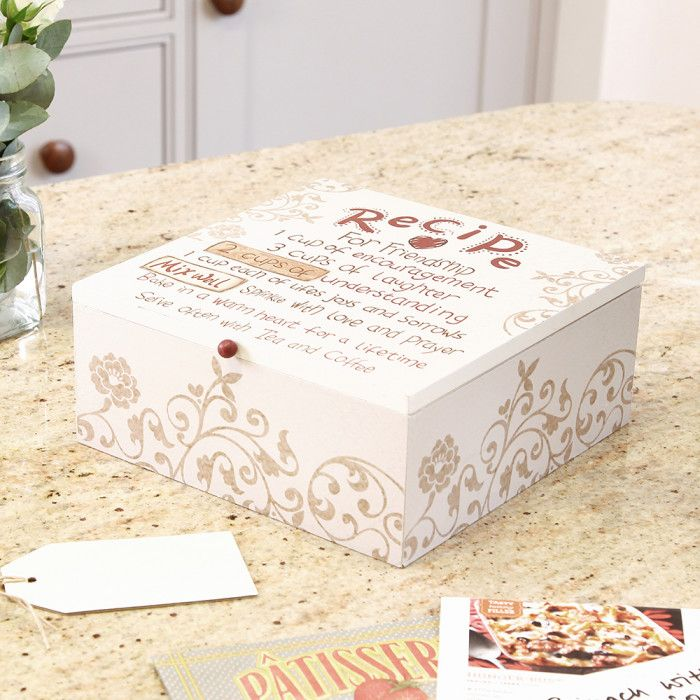 Store Anything From Recipes, Jewellery, Letters Or Sewing Accessories In  This Wooden Storage Box