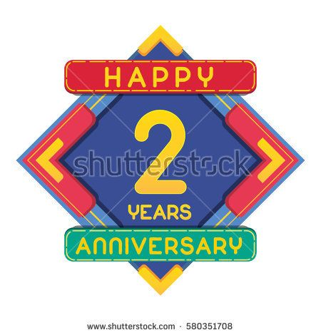 2 Years Anniversary Celebration Design.