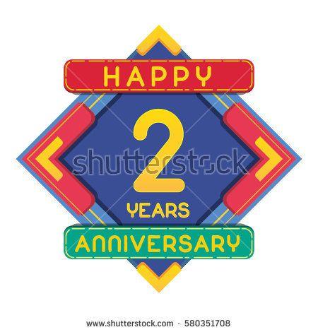 2 Years Anniversary Celebration Design.