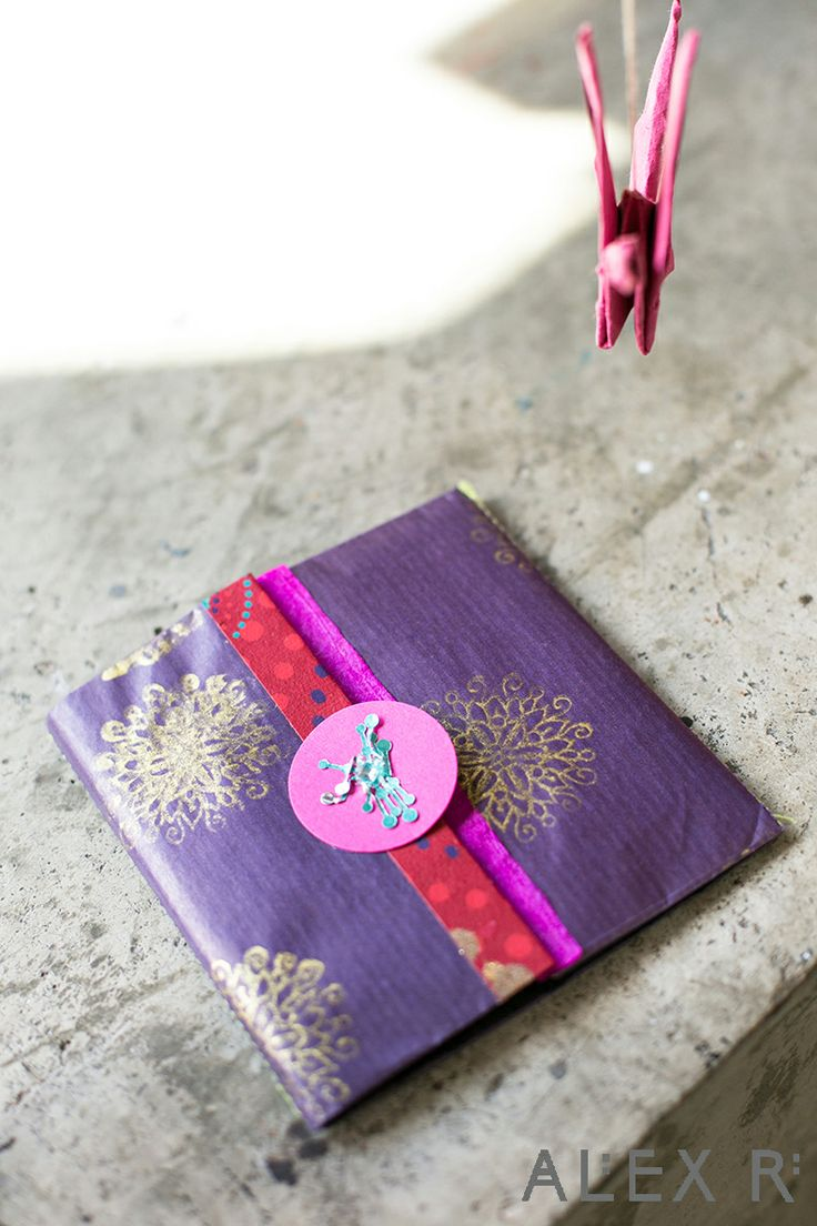 The handmade origami wedding invite