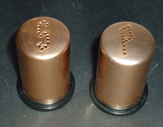 Anodized Aluminum Retro Salt and Pepper Shakers by HawksAerie