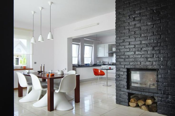 17 Best images about Black Brick Fireplace | Brick ...