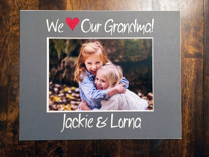 8x10 Custom photo mat - We Love Our Grandma Photo Mat - with the names of the grandchildren by NewtonHandiworks on Etsy