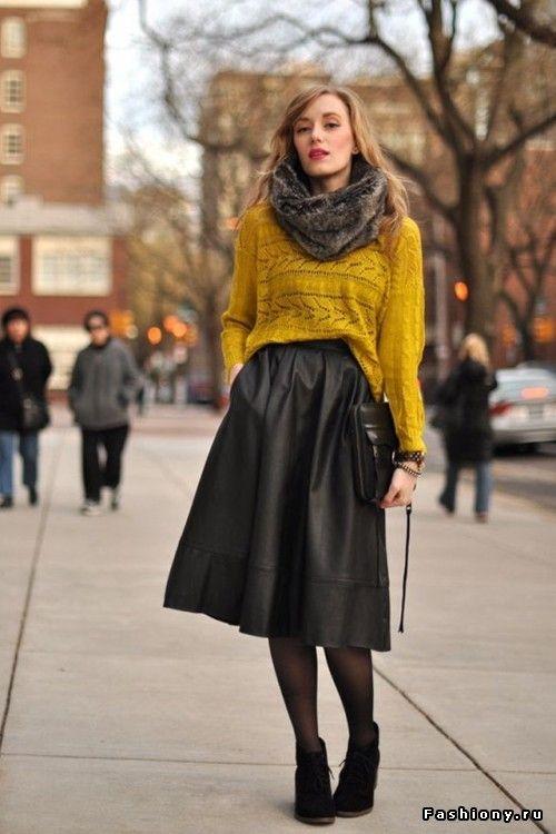 Такие разные кожаные юбки