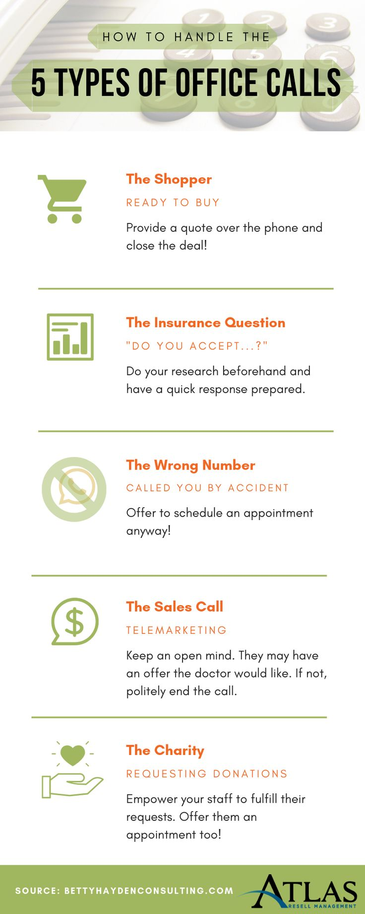 Dental tip how to handle the 5 types of office calls