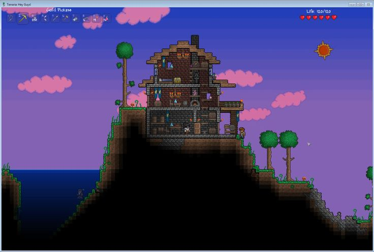 17 best images about terraria base inspiration on for Terraria house designs