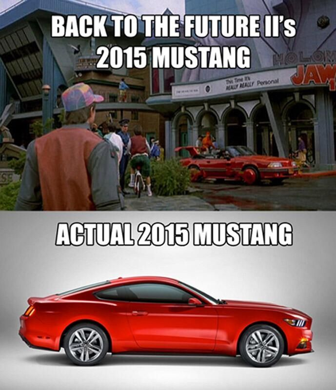 Back To The Futures Mustang Too Funny Ford Mustang Future