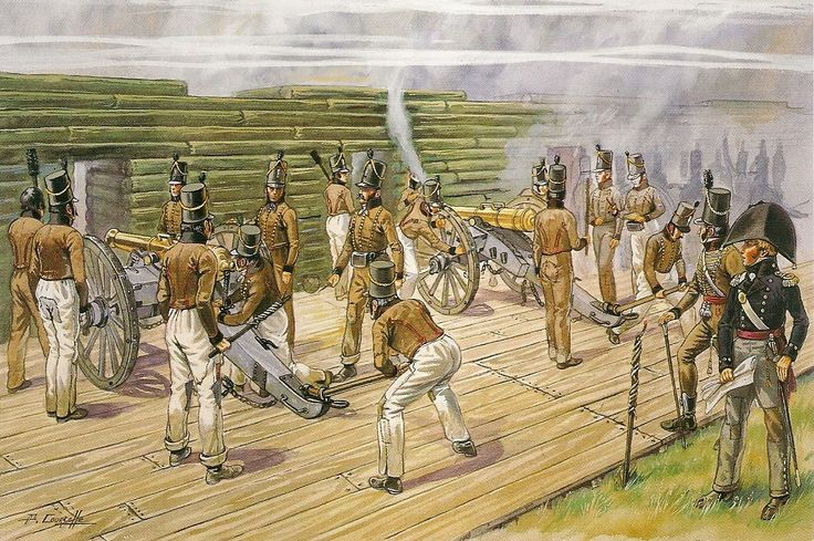 Portugese Artillery at the Torres Vedras Line