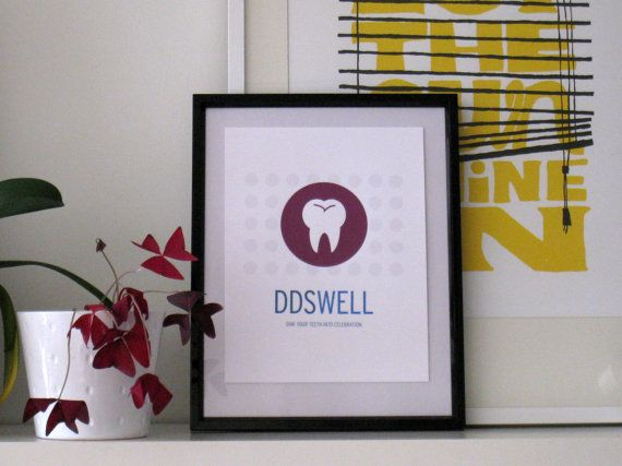 Doctor of Dental Surgery DDS Print by SomeoneCreative on Etsy