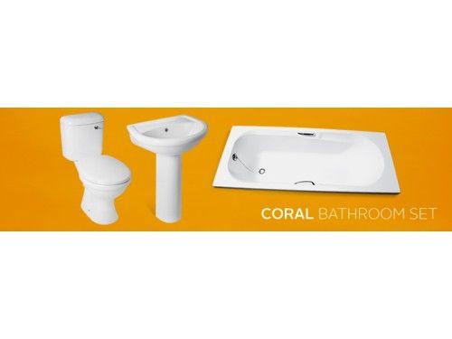 White Coral Bathroom Set