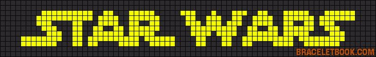 Star Wars logo perler bead pattern http://mistertrufa.net/librecreacion/culturarte/?p=12