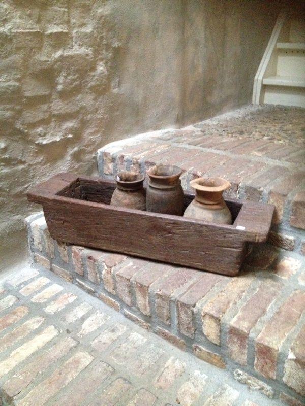 Grote oude houten trog bak schaal  wwwhetjagershuiscom landelijke stijl wo # Wasbak Schaal_000641