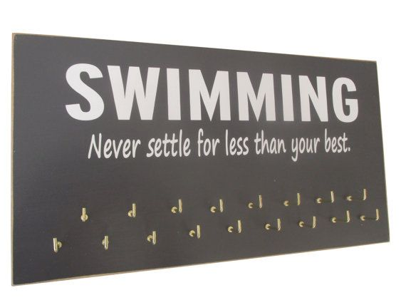 Swimming Use a awards display rack to display by runningonthewall, $28.99