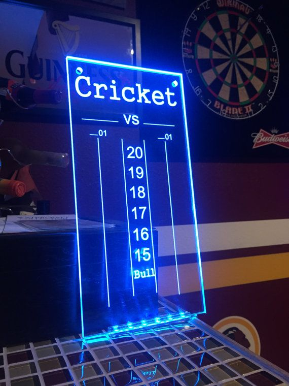 This Neon Dry Erase Dart Scoreboard will be the envy of all your darting friends! Price includes adding personalized text at bottom to suit your
