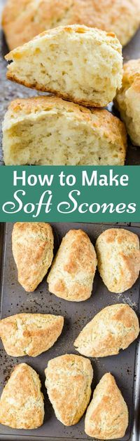 Learn how to make soft scones with these simple tips and tricks. Use this basic soft scone recipe as a base for all sorts of add-ins! via @introvertbaker #scones #breakfast