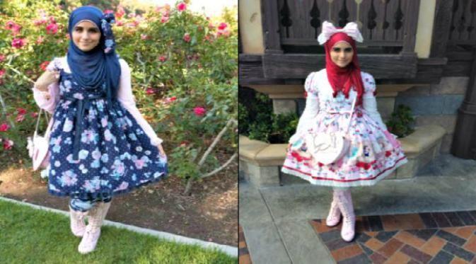 gaya berbusana 'muslim lolita' memadukan busana muslim dengan fashion Negeri Sakura.