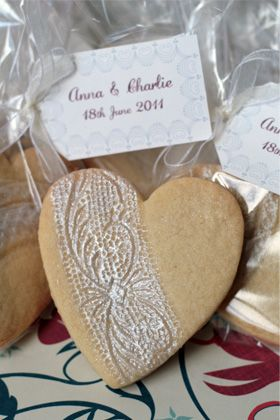 Embossed heart biscuit