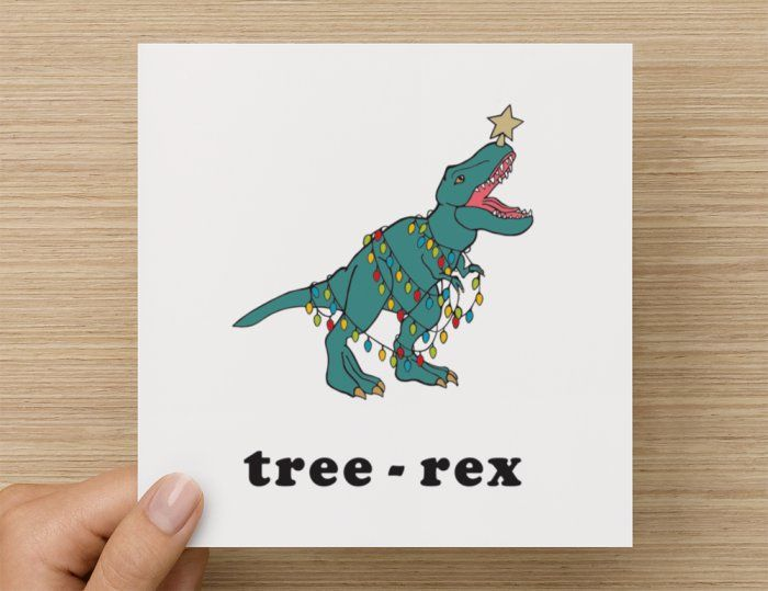 Funny Christmas Cards: Tree-Rex by QC.