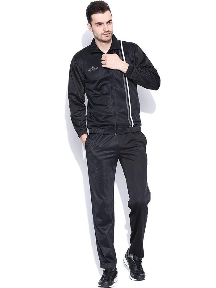 Duke Men's Stipped Black Track Suit by Returnfavors