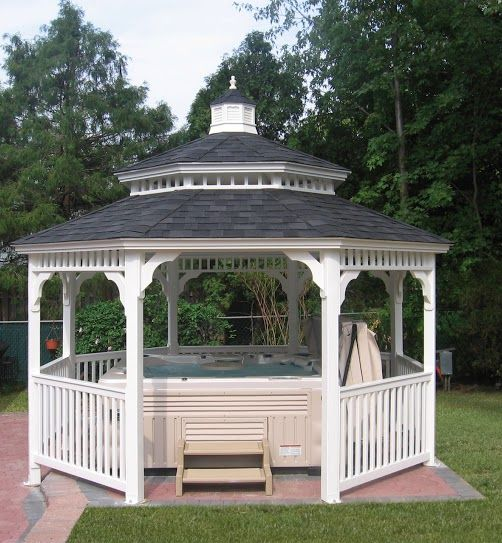 1000 images about hot tub ideas jacuzzi and spa on for Cal spa gazebo