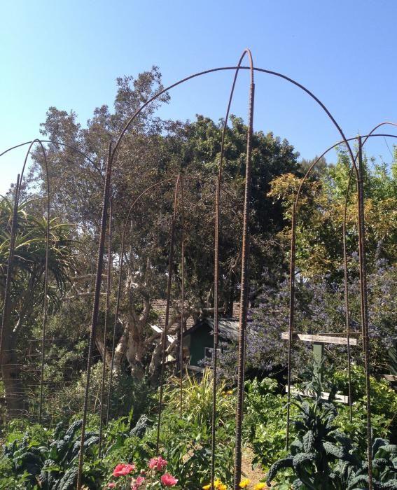 rebar garden arch