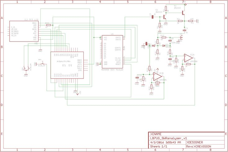 Antenna analyser with ad9850 and ili9341tft, poor hams
