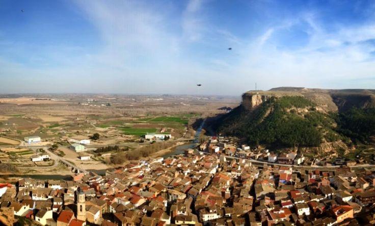 Panorámica de Ballobar y alrededores.  Foto de Vanesa Vilas