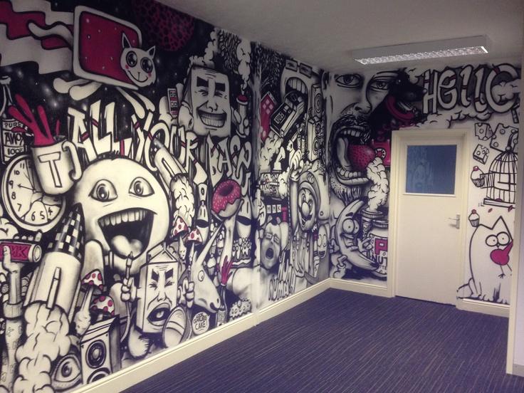 Graffiti decoration in the MMK Media office
