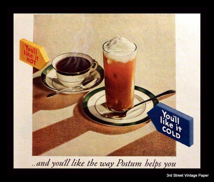 1930 Postum Drink Powder Ad Wall Art Home Decor