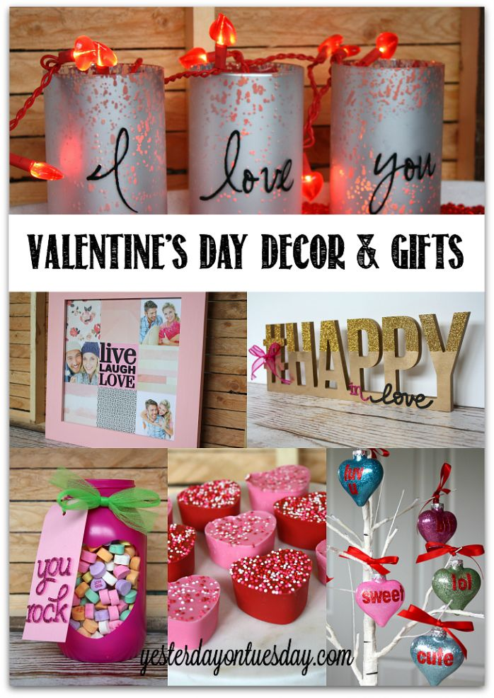 Valentine's Day Decor and Gift Ideas including thoughtful presents and DIY Candy Hearts