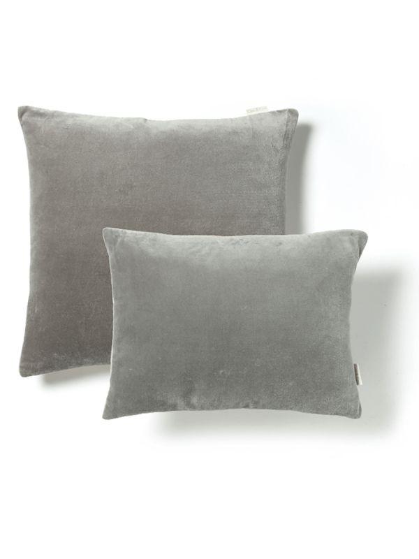 Velvet & Linen Cushions - Dove Grey