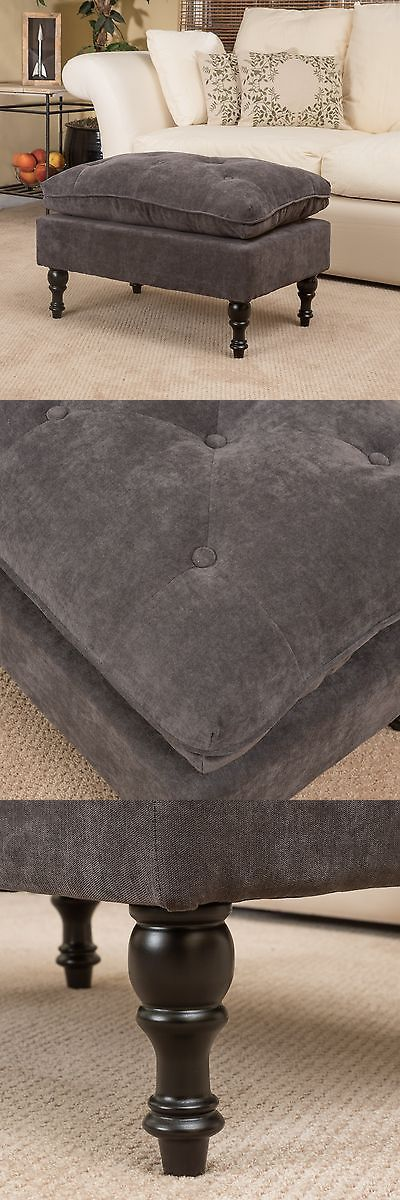 Ottomans Footstools and Poufs 20490: Royal Vintage Design Grey Microfiber Ottoman Footstool -> BUY IT NOW ONLY: $76.99 on eBay!