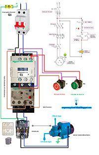 Electricistas de Lleida, Esquemas eléctricos: Motor bomba monofásico con presostato
