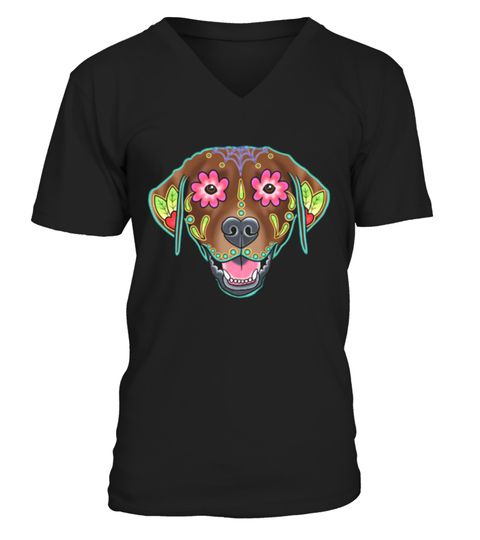# Labrador Retriever in Chocolate  Day of the Dead Lab Sugar Skul .  HOW TO ORDER:1. Select the style and color you want: 2. Click Reserve it now3. Select size and quantity4. Enter shipping and billing information5. Done! Simple as that!TIPS: Buy 2 or more to save shipping cost!This is printable if you purchase only one piece. so dont worry, you will get yours.Guaranteed safe and secure checkout via:Paypal | VISA | MASTERCARD