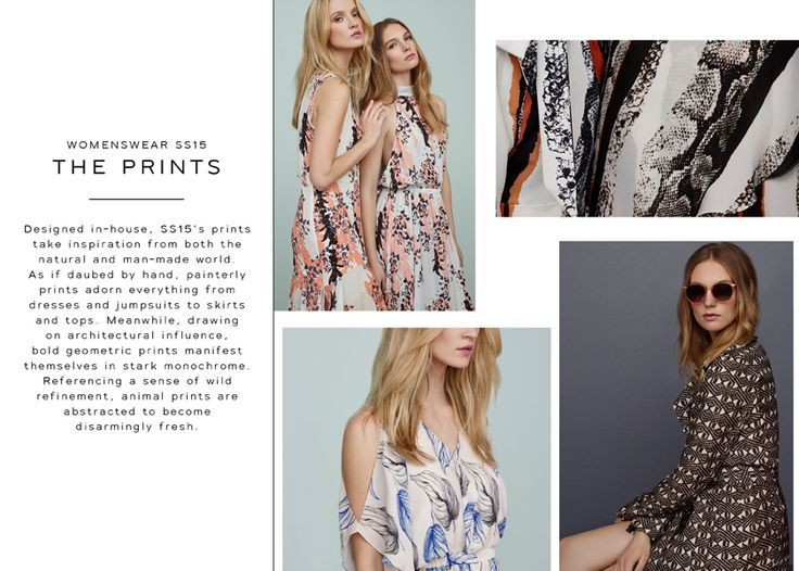 THE REISS SS15 PRINTS :: This season's inspirations and overviews on key SS15 colours, prints and silhouettes