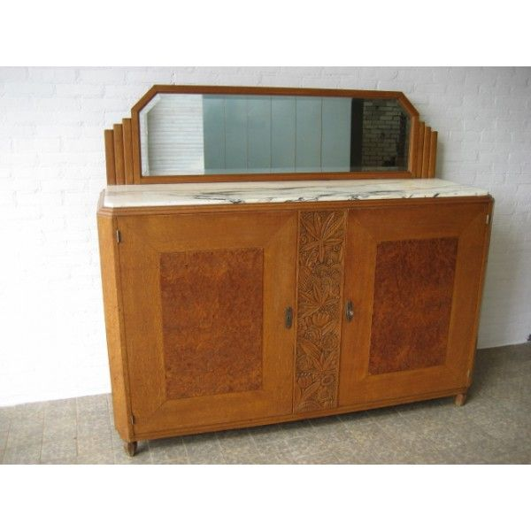 17 beste idee n over dressoir spiegel op pinterest witte dressoirs slaapkamer dressoirs en - Eetkamer art deco ...