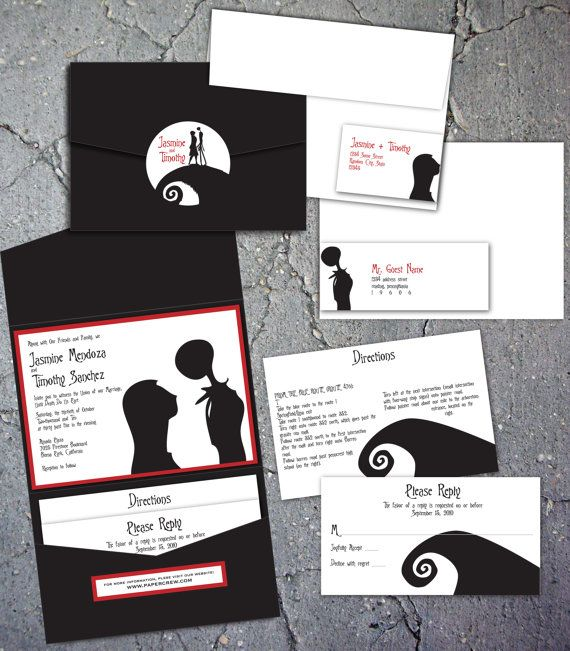 Exceptional Nightmare Before Christmas Inspired Invitations