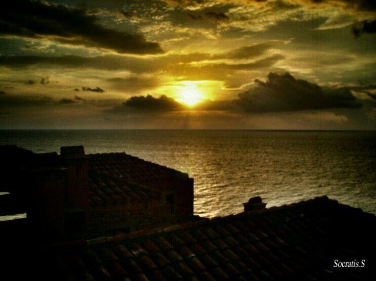 Monemvasia sunset